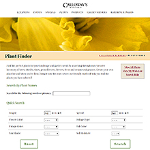 Calloway's Nursery Plant Finder
